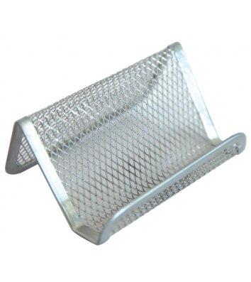 Підставка для візиток металева срібляста, Optima