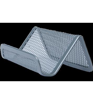 Підставка для візиток металева срібляста, Buromax