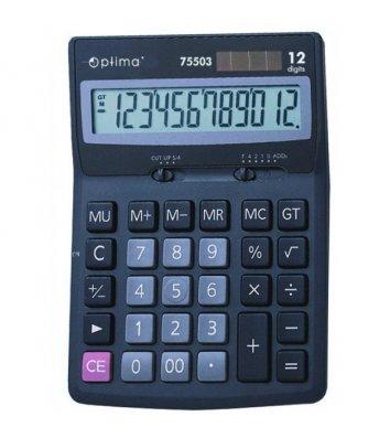 Калькулятор 12 разрядов 170*122*32мм, Optima