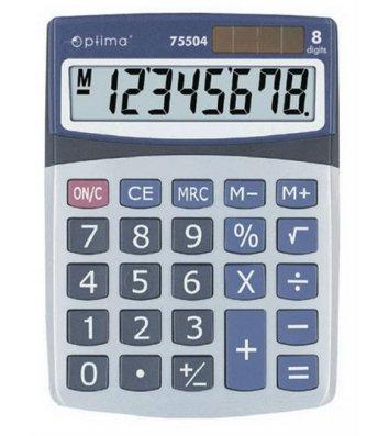 Калькулятор  8 розрядів 160*118*41мм, Optima