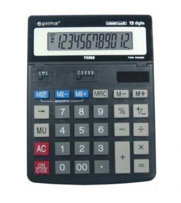 Калькулятор 12 розрядів 200*150*27мм, Optima