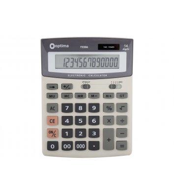 Калькулятор 14 розрядів 197*148*49мм, Optima