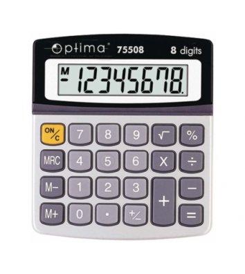 Калькулятор  8 розрядів 134*107*34мм, Optima