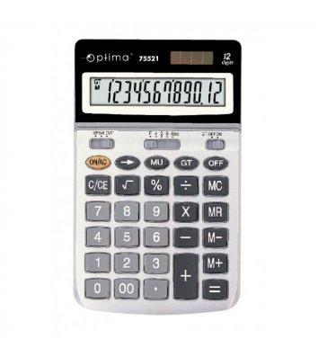 Калькулятор 12 розрядів 174*108*28мм, Optima