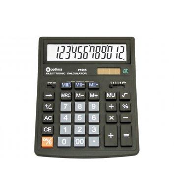 Калькулятор 12 розрядів бухгалтерський 200*154*36мм, Optima