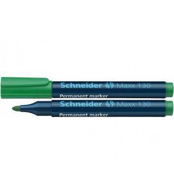 Маркер перманентний Maxx 130, колір чорнил зелений 1-3мм, Schneider