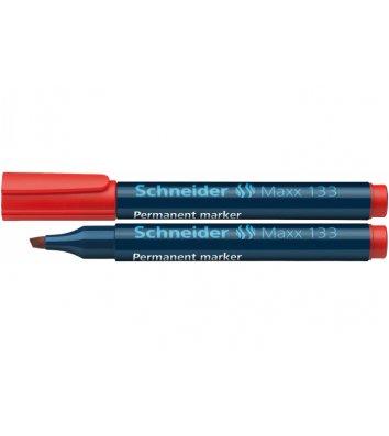 Маркер перманентный Maxx 133, цвет чернил красный 1,5-4мм, Schneider