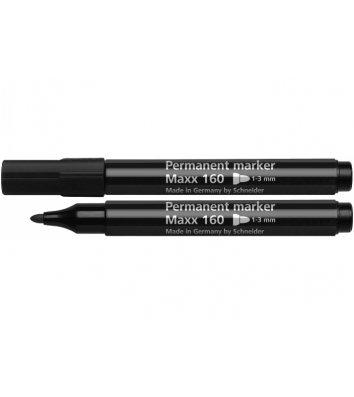 Маркер перманентный Maxx 160, цвет чернил черный 1-3мм, Schneider