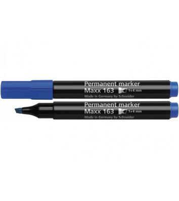 Маркер перманентный Maxx 163, цвет чернил синий 1-4мм, Schneider