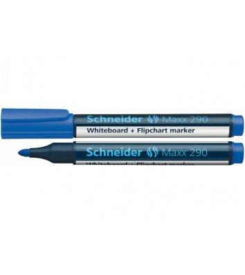 Маркер для дошок Maxx 290, колір чорнил синій 1-3мм, Schneider