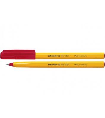 Ручка кулькова Tops 505 F, колір чорнил червоний 0,5мм, Schneider
