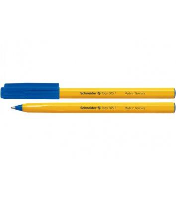 Ручка кулькова Tops 505 F, колір чорнил синій 0,5мм, Schneider