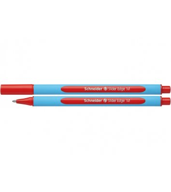 Ручка масляная Slider Edge М, цвет чернил красный 0,7мм, Schneider