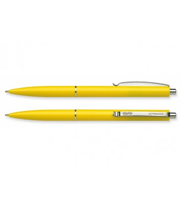 Ручка кулькова автоматична К15, корпус жовтий, колір чорнил синій 0,7мм, Schneider