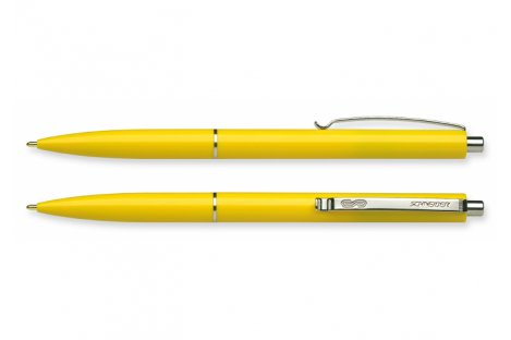 Ручка шариковая автоматическая К15, корпус желтый, цвет чернил синий 0,7мм, Schneider