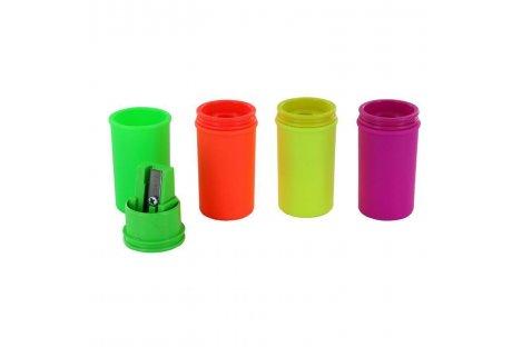 """Чинка пластикова 1 лезо з контейнером """"Mini Neon"""" асорті, Kum"""