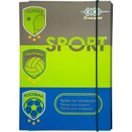 Папка B5 картонна на гумці для зошитів Art Effect Sport, Zibi
