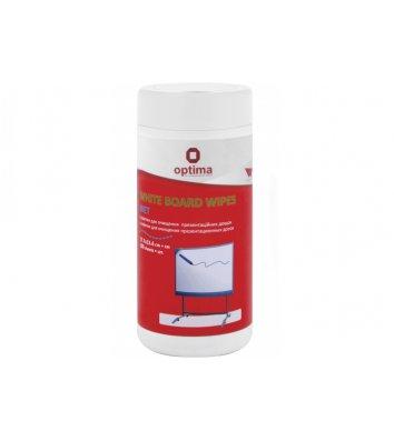 Серветки для очищення дошок 100шт вологі, Optima