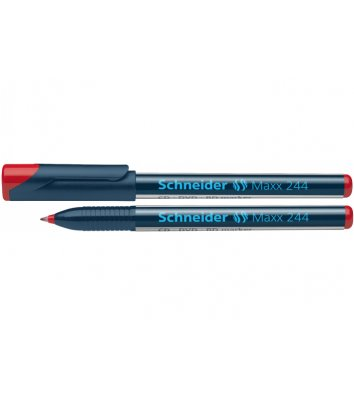Маркер для CD/DVD Maxx 244, цвет чернил красный 0,7 мм, Schneider