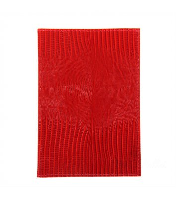 Обкладинка для паспорту шкіряна червона, Canpel