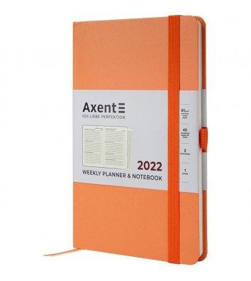 Щотижневик датований 2021 Partner Strong 125*195мм персиковий, Axent