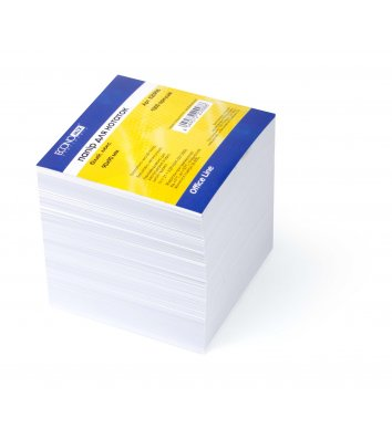 Бумага для заметок 90*90мм 1000л, белая непроклеенная, Economix