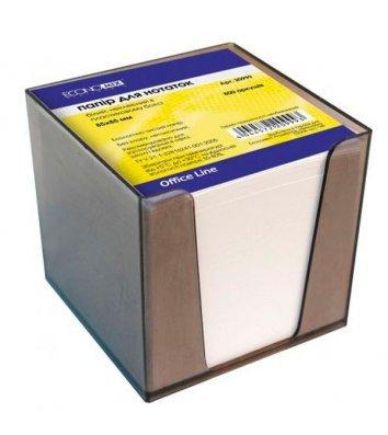 Папір для нотаток 85*85мм 800арк білий непроклеєний в пластиковому боксі, Economix