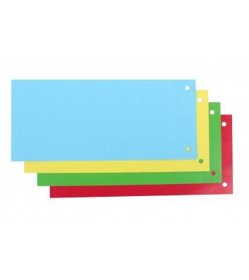 Розділювачі аркушів 100шт картонні кольорові, Economix