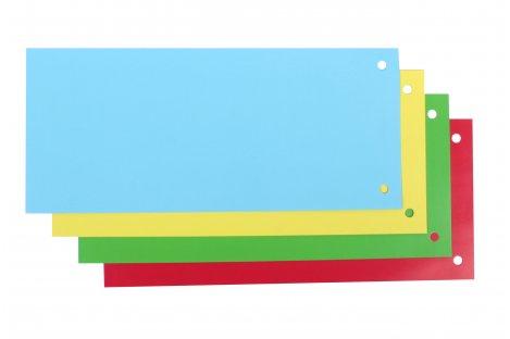 Разделители листов 100шт картонные цветные, Economix