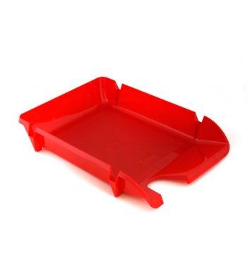 Лоток горизонтальный пластиковый красный непрозрачный Компакт, Economix