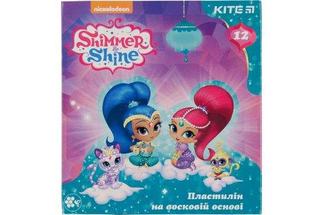 "Пластилин восковой 12 цветов 240г ""Shimmer and Shine"", Kite"