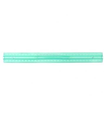 Лінійка 30см пластикова прозора кольорова з тримачем, Economix