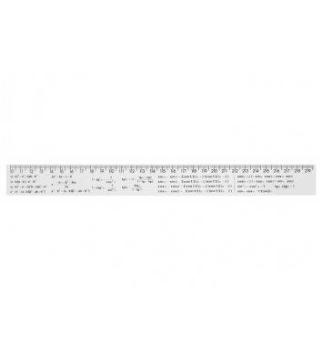 Лінійка 30см алгебраїчні формули пластикова, Economix