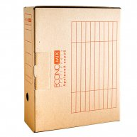 Бокс архівний 100мм коричневий, Economix
