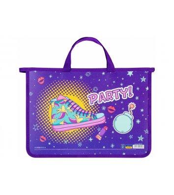 """Портфель А4 пластиковий на блискавці 2 відділення """"Little fairy"""", Cool for School"""