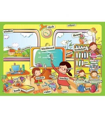 """Килимок для дитячої творчості  А3 пластиковий """"В школі"""", Cool for School"""