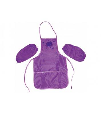 Фартук с нарукавниками фиолетовый, Cool for School