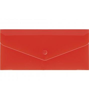 Папка-конверт E65 на кнопці пластикова червона, Economix