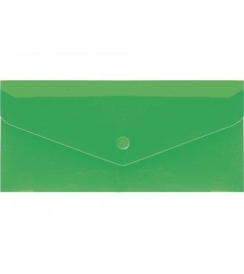 Папка-конверт E65 на кнопці пластикова зелена, Economix