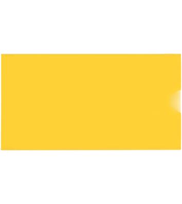Папка-конверт E65 пластиковая желтая, Economix