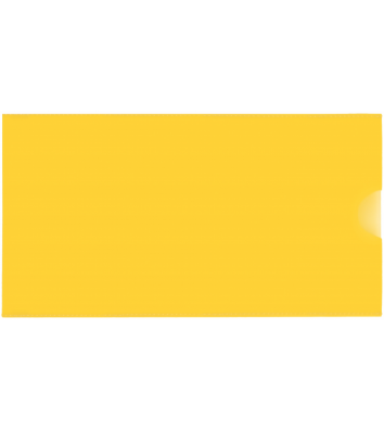 Папка-конверт E65 пластикова жовта, Economix