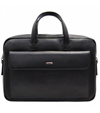 Портфель мужской кожаный черный 340, Desisan
