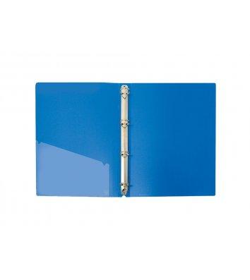 Папка А4 пластиковая на 4 кольца 36мм синяя, Economix