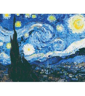 """Картина по номерам """"Зоряна ніч. Ван Гог"""" 40*50см, Riverа Blanca"""