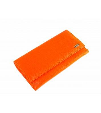 Гаманець шкіряний Canpellini 157, помаранчевий