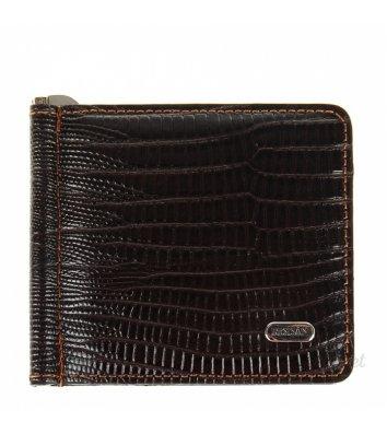 Зажим для грошей шкіряний Desisan 208, темно-коричневий