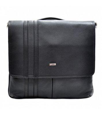 Портфель мужской кожаный черный 1337, Desisan