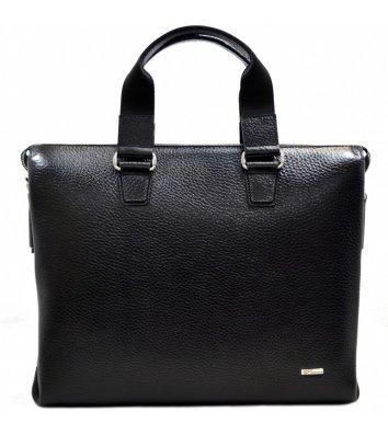 Портфель мужской кожаный черный 1341, Desisan