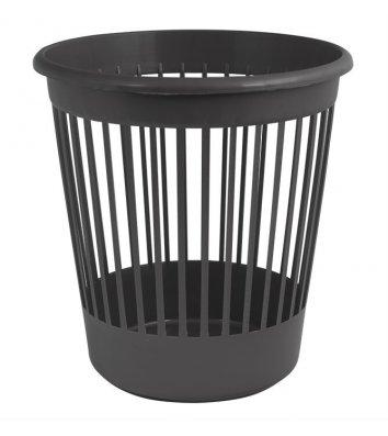 Корзина для сміття пластикова чорна 10л, Arnika