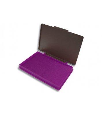 Подушка штемпельная настольная 70*110мм фиолетовая, Kores